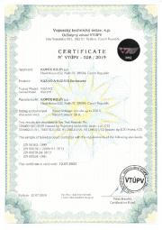 Certificate VTÚPV