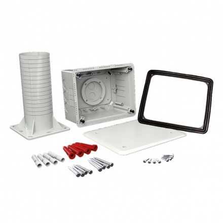KUZ-VI KB - krabice univerzální do zateplení s tubusem a víkem
