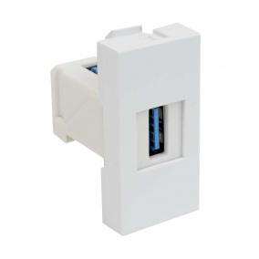 QD 45X22.5-USB HB - zásuvkový modul QUADRO - zásuvka datová s koncovkou USB