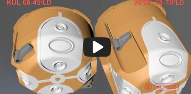 Embedded thumbnail for Instrukcja montażu puszki elektroinstalacyjnej do ścian pustych KUL 68-45/LD i KPRL 68-70/LD